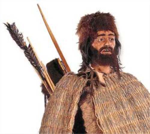 (Una representación artística de Otzi.) (Foto: Landschafts-museum)