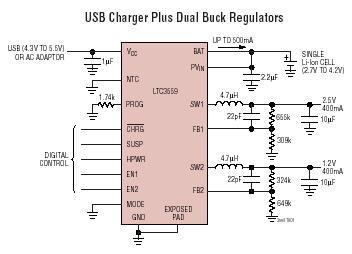 LTC3559 typical aplication