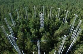 (El experimento FACE liberó CO2 desde torres con válvulas controladas por ordenador.) (Foto: Chris Hildreth)